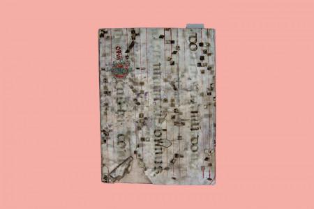 Inkunabel, Frühzeit des Drucks: Keyserliche lehenrecht czusampt andern rechte(n) hierinne begriffen durch Obertum zusamen geseczt vnd kürtzlich czu teutsch pracht vnd transferier ist, gesetzt und gedruckt von Lucas Zeissenmaier, in der Fassung von Jodokus Pflanzmann (1430–1497, Prokurator am geistlichen Gericht, Notar, Übersetzer, Druckereibesitzer), Augsburg 1494, 68 Druckseiten, 1 kolorierte Holzschnittinitiale, gebunden in einem Chorbuchblatt aus Pergament, Italienisch, H 26,3 cm, B 19,5 cm, Inv. Nr. LB 8, eine heute sehr seltene Ausgabe (Link: repertorium.at/sl/altmann_1989.html)